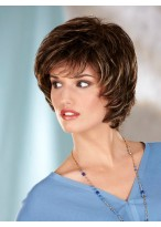 Short Layers Capless Synthetic Wig