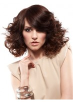 Gorgeous Front Lace Spiral Wavy Synthetic Wig