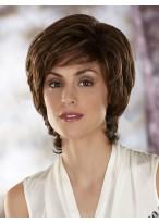 Cropped Layered Synthetic Wig with Flicked Out Ends