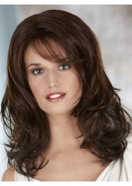 Shoulder Length Loose Wavy Synthetic Lace Front Wig
