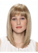 Shoulder Length Bob Cut Synthetic Wig with Full Bangs