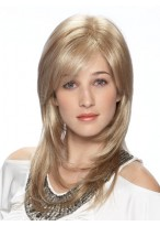 Long Layered Light Blonde Lace Front Synthetic Wig