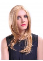Fashionable Medium Full Lace Synthetic Wig