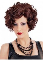 Women's Short Curly Synthetic Capless Wig