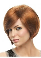 Short Full Lace Straight Synthetic Wig For Women