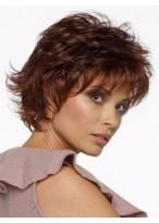 Women's Short Wavy Capless Synthetic Wig