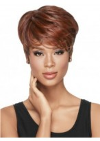 Hand-tied Women's Short Full Lace Straight Wig
