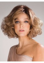 Fashion Synthetic Medium Curly Woman wigs