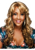 Long Cruly Synthetic Easy Wear Beautiful Capless Wig