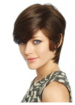 Asymmetry Short Synthetic Silky Straight Capless Wig