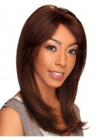 """16"""" Medium Length Straight Golden Brown Lace Front Wigs"""