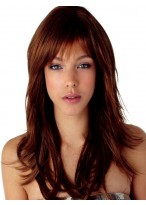 Long Synthetic Natural Straight Capless Wig