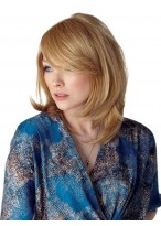 Medium Curly Capless Synthetic Wig