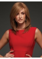 Shoulder-length Hair Side-parting Capless Synthetic Wig