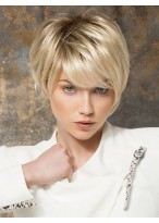 Hot Sell Short Full Lace Straight Synthetic Wig