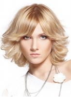 Synthetic Lace Front Short Wig For Women