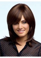 Shoulder Length Feathery Layers Synthetic Wig