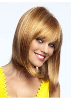 Smooth Sleek Hair Synthetic Wig with a Center Part