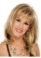 Shoulder Length Layered Cut Synthetic Wig
