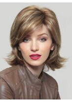 Medium Length Synthetic Wig With Smooth Blended Layers