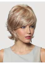 Wispy Layered Cut With Flipped Ends Synthetic Wig