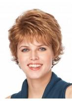 Short Length Flip Style With Sof tClosely-cropped Curls Synthetic Wig