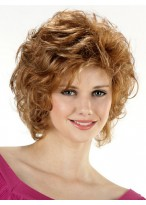 Short Layering Loose Curls Synthetic Wig