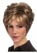 Short Soft Curls Pixie Cut Synthetic Wig With Wispy Long Sides