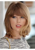 Youthful Short Loose Wave Taylor Swift Hairstyle Synthetic Wig