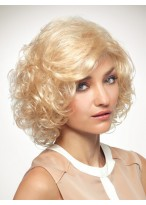 Volumn Curly Synthetic Chin Length Wig For Yonger Ladies