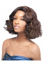 Super Synthetic Quick Weave Charming Shoulder Length Wig