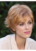 Short Capless Synthetic Wig With End Fly Out