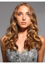 Centerpart Long Style Wavy Synthetic Wig