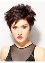 Short Stand Cut Synthetic Capless Wig