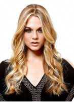 "24"" Glitter Centerpart Long Wavy Synthetic Wig"
