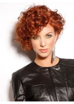 Flirtatious Curly Short Capless Wig