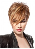 Fashion Short Capless Wig with Side Bangs