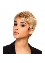 Blonde Short Synthetic Capless Wig