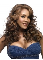Sexy Long Lace Front Curly Women Synthetic Wig