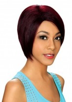 Nifty Short Red Dense Synthetic Wig