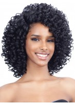 Afros Black Lace Front Curly Wig