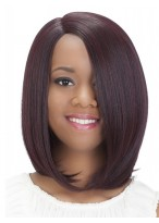 Red Bob Style Synthetic Capless Medium Wig