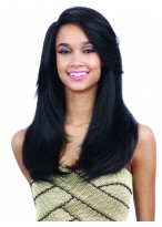 Charming Layers Black Synthetic Capless Wig