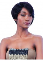 Clean Fresh Short Synthetic Black Wig