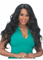"26"" Glitter Long Thick Wavy Synthetic Centerpart Wig"