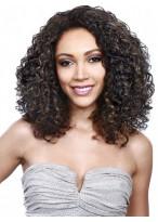 Beautiful Synthetic Medium Length Curly Capless Wig