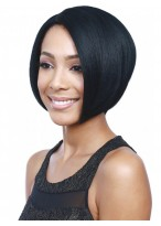 Bob Style Black Synthetic Capless Wig