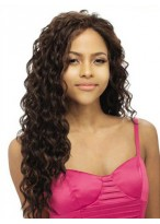 """20"""" Water Wave Remy Human Hair Lace Front Wig"""