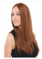 """24"""" Remy Human Hair Straight Lace Front Wig"""
