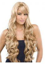 "26"" Water Wavy Remy Human Hair Full Lace Wig"